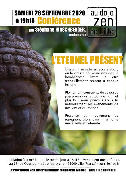 Conférence sept 2020 Dojo zen de Lille