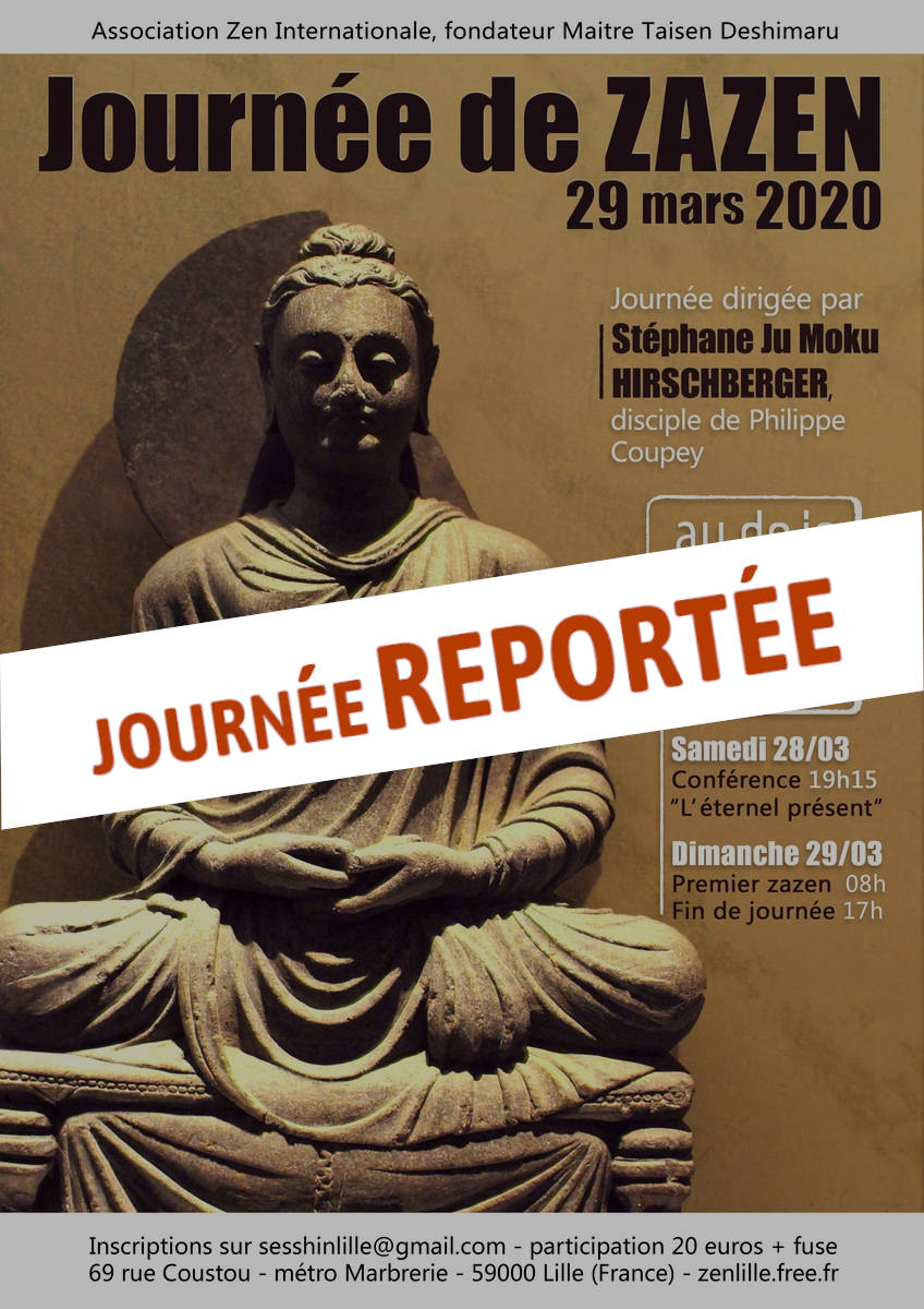 journée zazen reportée mars 2020